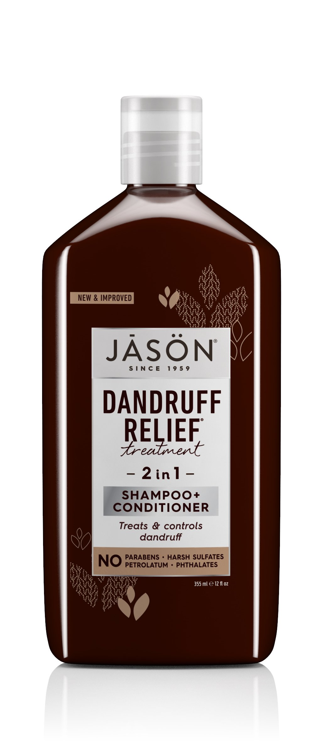 JASON Dandruff Relief 2-in-1 Treatment Shampoo and Conditioner, 12 oz. (Packaging May Vary) by JASÖN