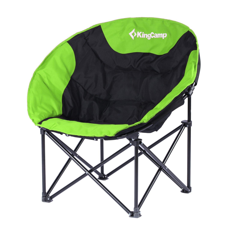 KingCamp – Stuhl-Camping & Trekking Mond – 76  50  50 cm – Struktur aus Stahl und Textil Wasserdicht – Lädt bis zu 120 kg – Transporttasche Fourni – Farbe Grün