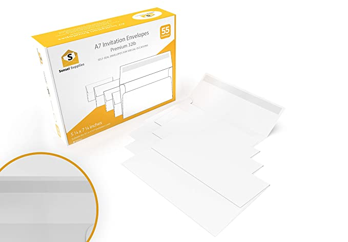 amazon com white invitation 5 x 7 envelopes for 5x7 cards a7