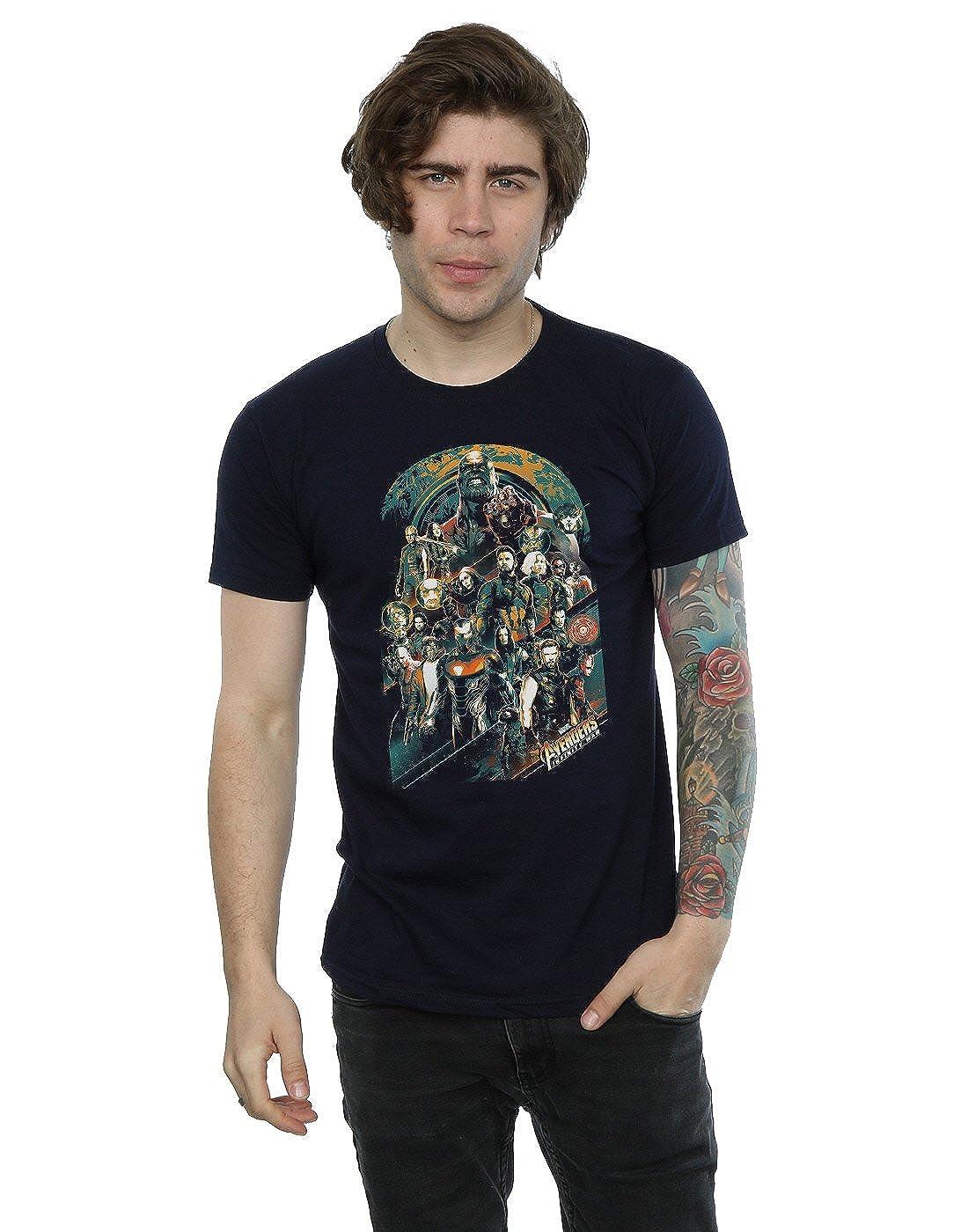 Avengers Hombre Infinity War Team Camiseta