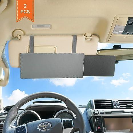 Amazon.com  TFY Car Visor Extender Anti-Glare Sun Visor Extender Window  Sunshade and UV Rays Blocker - Black (2 Pieces)  Automotive 6a96ac5a6e2