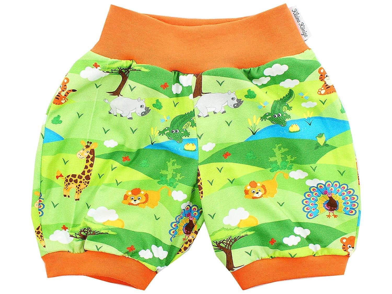 Kleine K/önige Kurze Pumphose Baby Jungen Shorts /· Modell Dschungeltiere In The Jungle orange /· /Ökotex 100 Zertifiziert /· Gr/ö/ßen 50-152