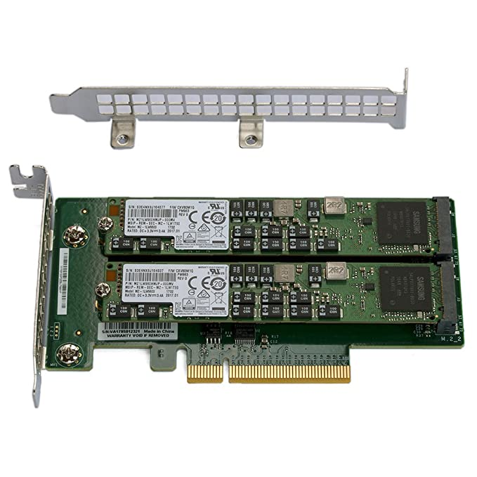 Amazon com: Supermicro AOC-SLG3-2M2 PCIe NVMe Dual M 2 x8 Gen 3