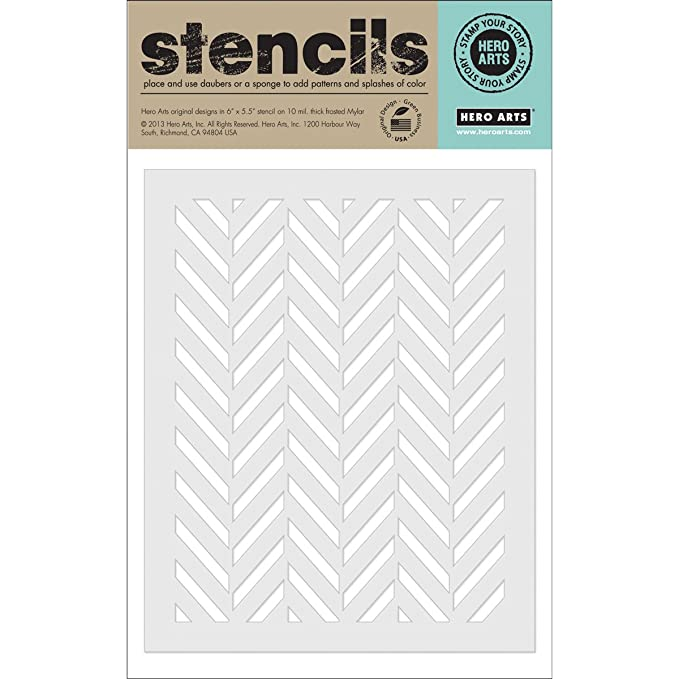 Amazon Hero Arts Tweed Pattern Stencil Arts Crafts Sewing Awesome Hero Patterns
