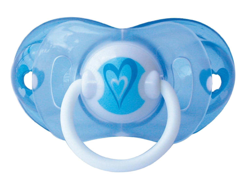 Elemed Latex Smart Pacifier, 0 To 6 Months, Cherry Shape, Light Blu Heart Elemed UK Catalog Listing BP721-1/C/AZZ/CU