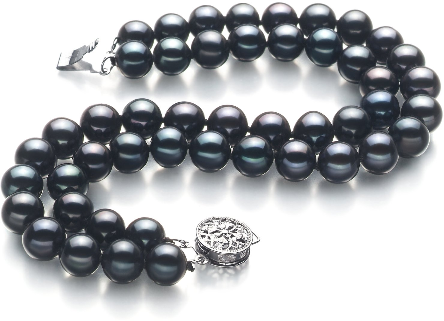PearlsOnly Henrike Black 6-7mm Double Strand AA Quality Freshwater Cultured Pearl Bracelet-9 in length by PearlsOnly (Image #2)