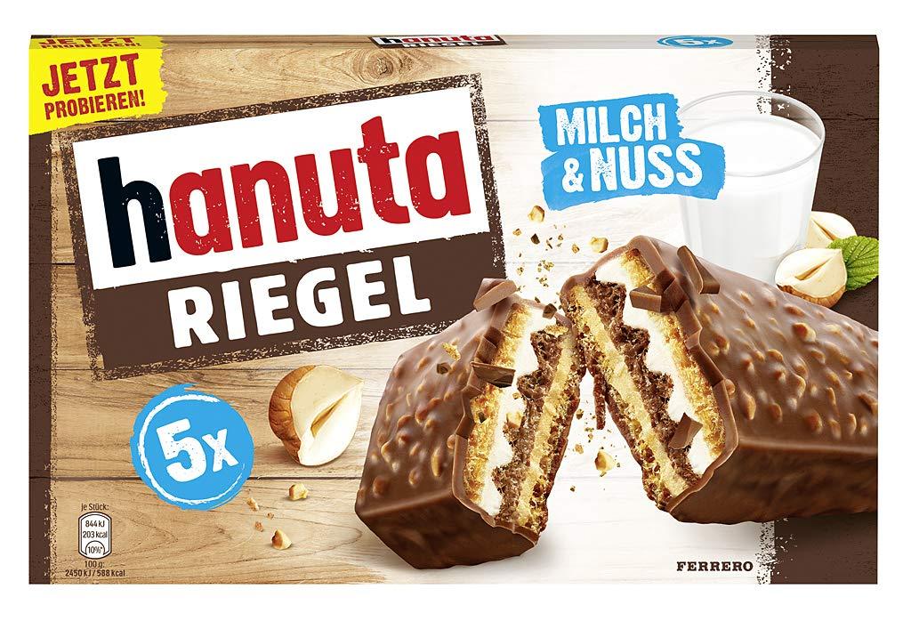 Ferrero Hanuta Riegel Bars 5 pieces 173g Crunchy Candy Wafers