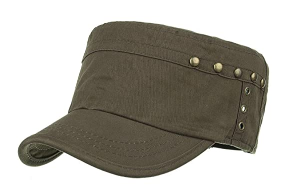 FENGFA Military Army Cap Baseball Caps Cadet Hat Outdoor Sport Flat