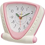 Orpat Beep Alarm Clock (White and Pink, TBB-337)
