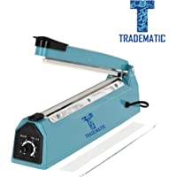 "TRADEMATIC Enterprise 12 inches Plastic Heavy Duty IB Heat Sealer, Heat Sealer for Plastic Bag, Heat Sealer Machine, Heat Sealer for Plastic Bag 12"" inch, Impulse Sealer, Packing Machine (Blue)."