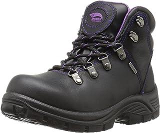 Avenger Safety Footwear Avenger 7124 Womens Waterproof Safety Toe EH SR Hiker Industrial & Construction Shoe, Black, 9 M US