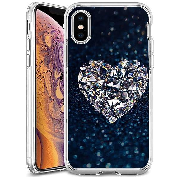 Amazon Com Designed Crystal Diamond Heart Iphone Xs Iphone
