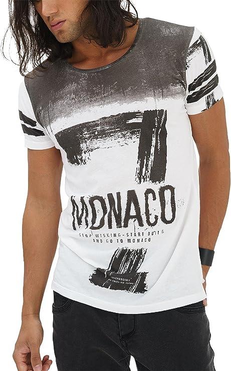 TALLA XXL. trueprodigy Casual Hombre Marca Camiseta con impresión Estampada Ropa Retro Vintage Rock Vestir Moda Cuello Redondo Manga Corta Slim Fit Designer Fashion T-Shirt