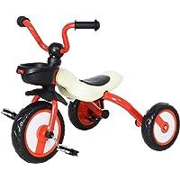 HOMCOM kinderdriewieler driewieler kinderfiets kindervoertuig fiets luchthoorn baby inklapbaar rood 65 x 50 x 56 cm