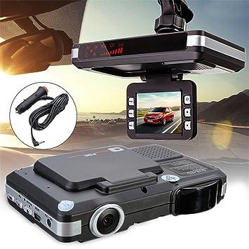 2 en 1 HD cámara del coche DVR Dash Cam grabadora + detector de velocidad de Láser Radar Alerta UK: Amazon.es: Electrónica