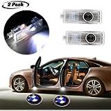 2Pcs for Car Door Logo Projector Lights, Led Welcome Laser Door Lights Logo, Wireless Type Projector Car Door Lights for…