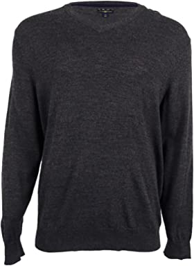 Club Room Mens Wool Blend V-Neck Pullover Sweater