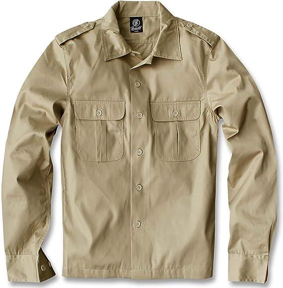 Brandit Us Hemd Langarm Camisa para Hombre: Amazon.es: Ropa y accesorios