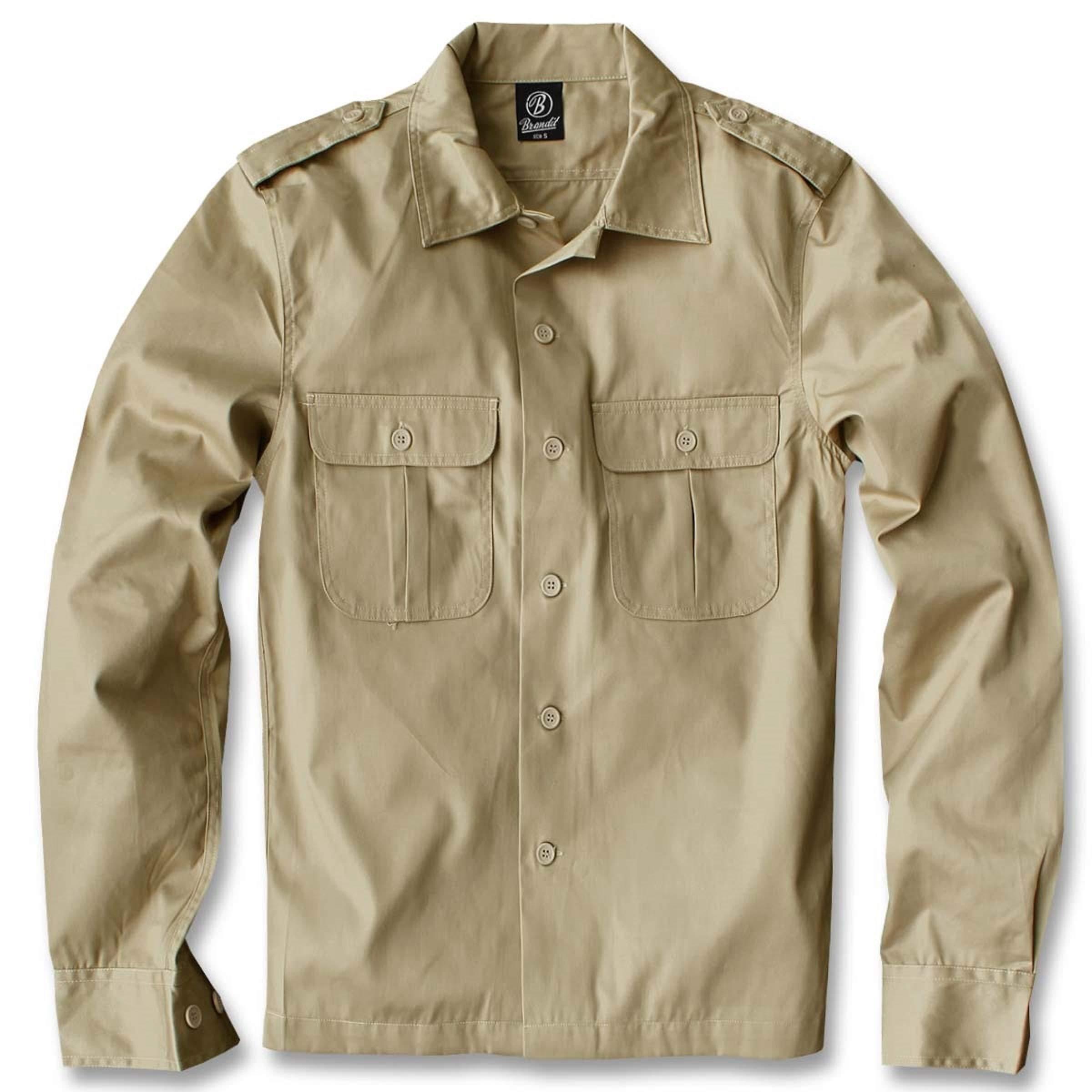 Brandit Hemd Shirt Slim MEN in Woodland
