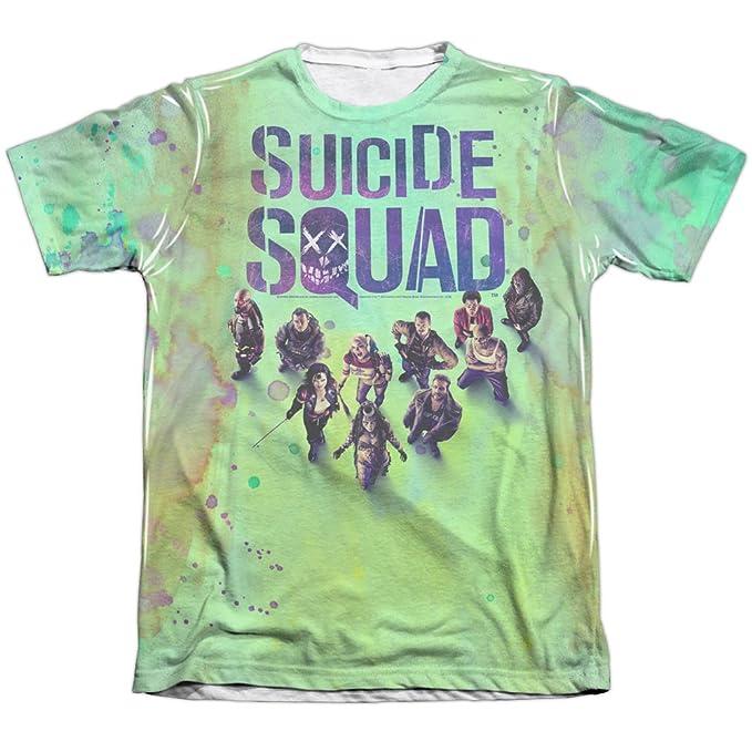 Suicide Squad - Impresión de póster (delantera y trasera) para hombre de sublimación camiseta: Amazon.es: Ropa y accesorios