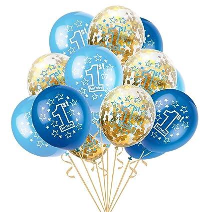 Wicemoon 1 Set Globo - Confeti de Globo de 1 Año de Edad Set ...