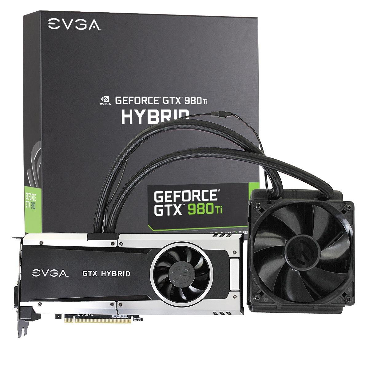 EVGA GeForce GTX 980 Ti 6GB HYBRID GAMING, ''All in One'' No Hassle Water Cooling, Just Plug and Play Graphics Card 06G-P4-1996-KR by EVGA (Image #1)