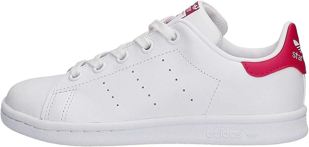adidas Baskets Fille Stan Smith C BlancRose: