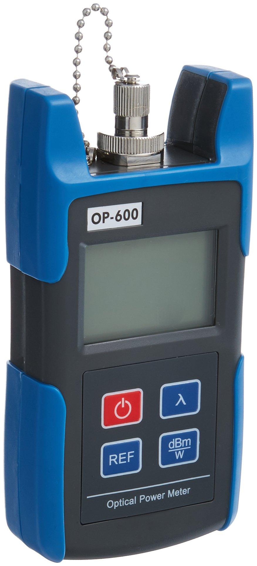 Optical Power Meter, SainSonic WattsOut OP-600, Portable Optical Power Meter, -50 - +26 dBm, SC/FC/ ST Interfaces, Fiber TL510C for CATV Test, CCTV Test and Telecommunication