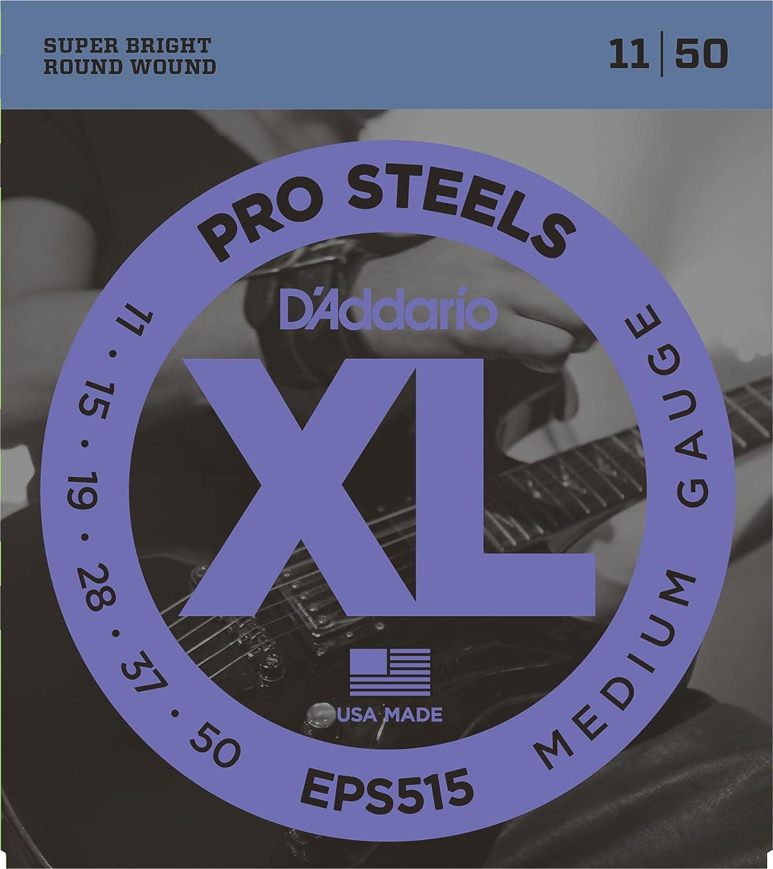 11-50 Medium DAddario EPS515 ProSteels Electric Guitar Strings