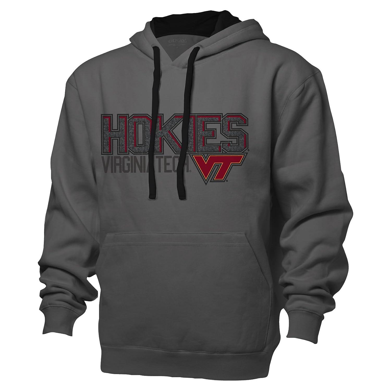 NCAA Virginia Tech Hokiesベンチマークカラーブロックプルオーバーフード、M、グラファイト/ブラック   B00K77Z8NU