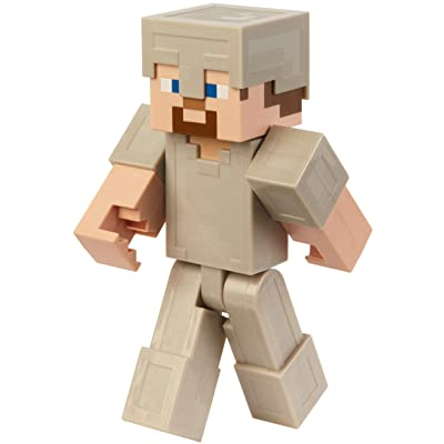 Minecraft Steve in Iron Armor 12-Inch Action Figure: Toys & Games