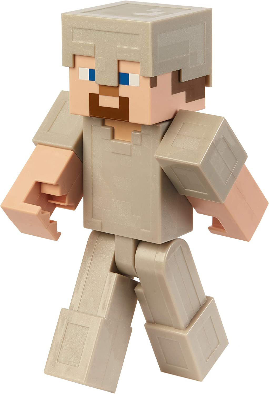 Amazon.com: Minecraft Steve in Iron Armor 12-Inch Action Figure