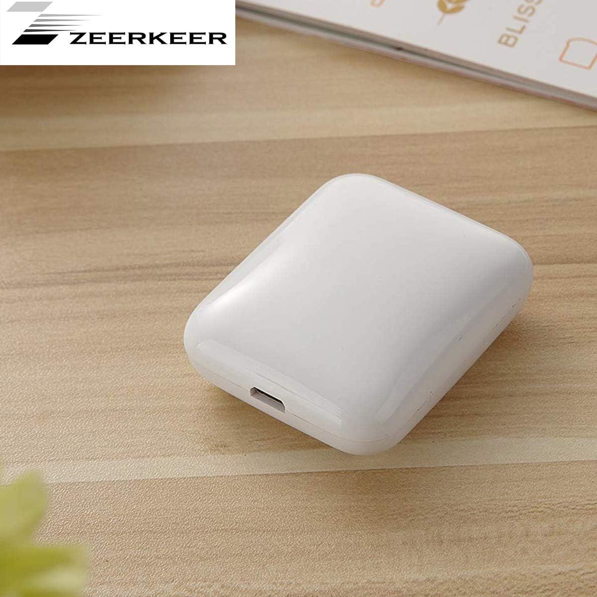 Purificador de aire port/átil Zeerkeer color blanco USB, ionizador de iones de litio recargable, cigarrillo extra/íble, bacteria, smell inocuo
