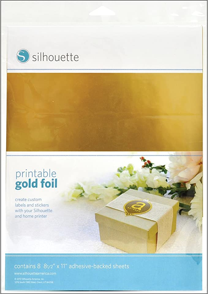 Silhouette MEDIA-GLD-ADH Oro - Etiqueta autoadhesiva (Oro, 215,9 ...