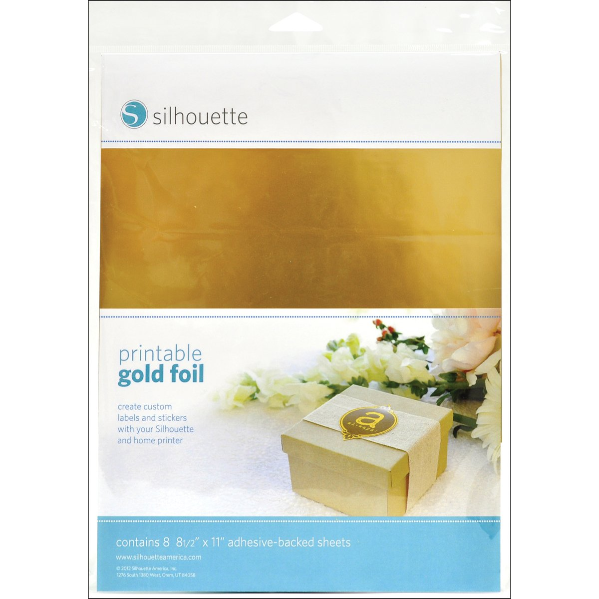 image regarding Printable Foil Paper titled Silhouette Printable Gold Foil