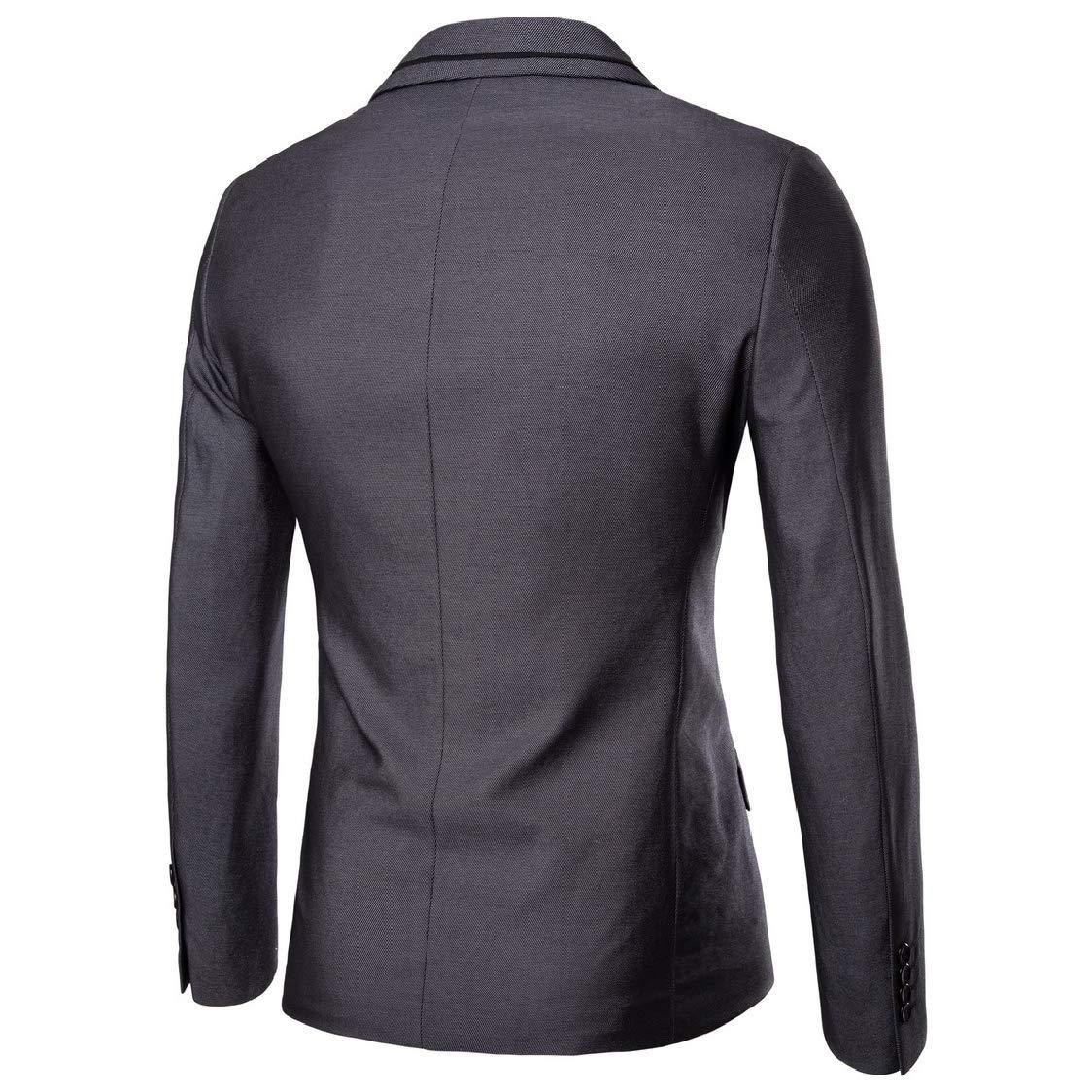 SELX Men Single Button Suit Coat /& Pants Tuxedo Wedding Party 2-Piece Suit