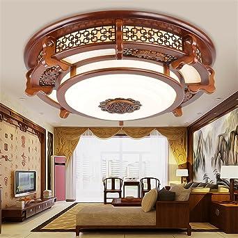 BRIGHTLLT Led de luz de techo redondo chino salón dormitorio ...