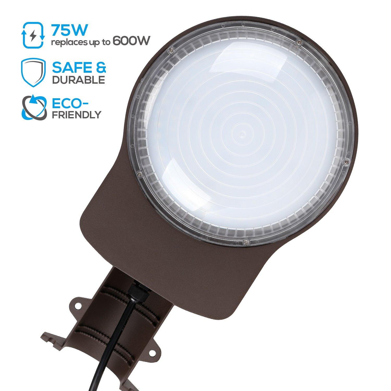 Barn Security Light: LEONLITE 75W LED Barn Light, Daylight 5000K
