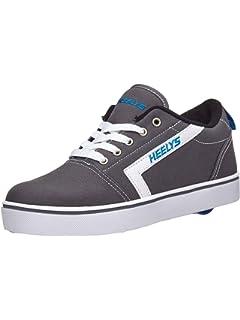 089761af86bf1 Amazon.com | Heelys Kids' Spiffy Black/RED/Flames Canvas Sneaker ...