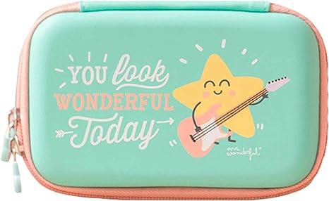 Mr. Wonderful WOA03230 - Funda para Disco Duro portátil, diseño You Look Wonderful Today, Color Verde: Amazon.es: Informática