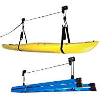 RAD Sportz Kayak Hoist 2 Pack Quality Garage Storage Canoe Lift With 125 Lb  Capacity