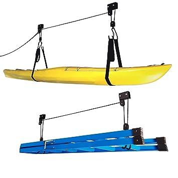 RAD Sportz Kayak Hoist 2 Pack Quality Garage Storage Canoe Lift With 125 Lb  Capacity