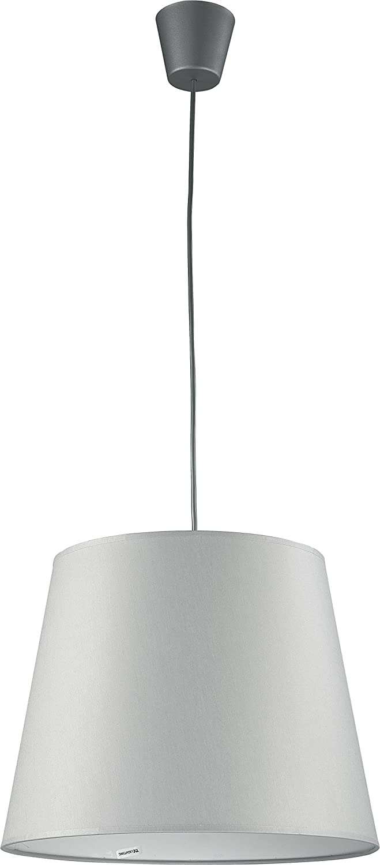 Lámpara colgante pantalla de tela gris E27 Bauhaus Cocina ...