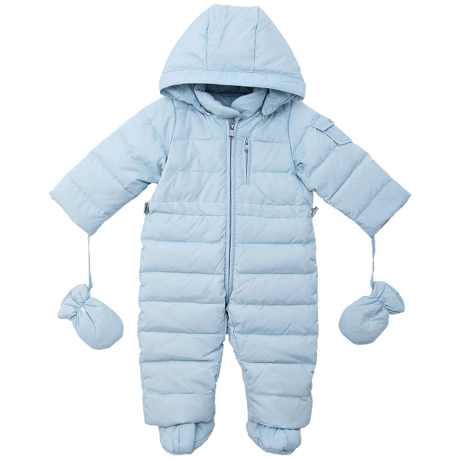 OCEANKIDS Baby Boys' Pram One-Piece Snowsuit Attached Hood 0-24 Months OC14221021