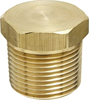 1 NPT x 1 NPSH 1 ID 1 NPT x 1 NPSH Campbell Fittings DMH1010 Double Male Hex Nipple 1 ID Brass