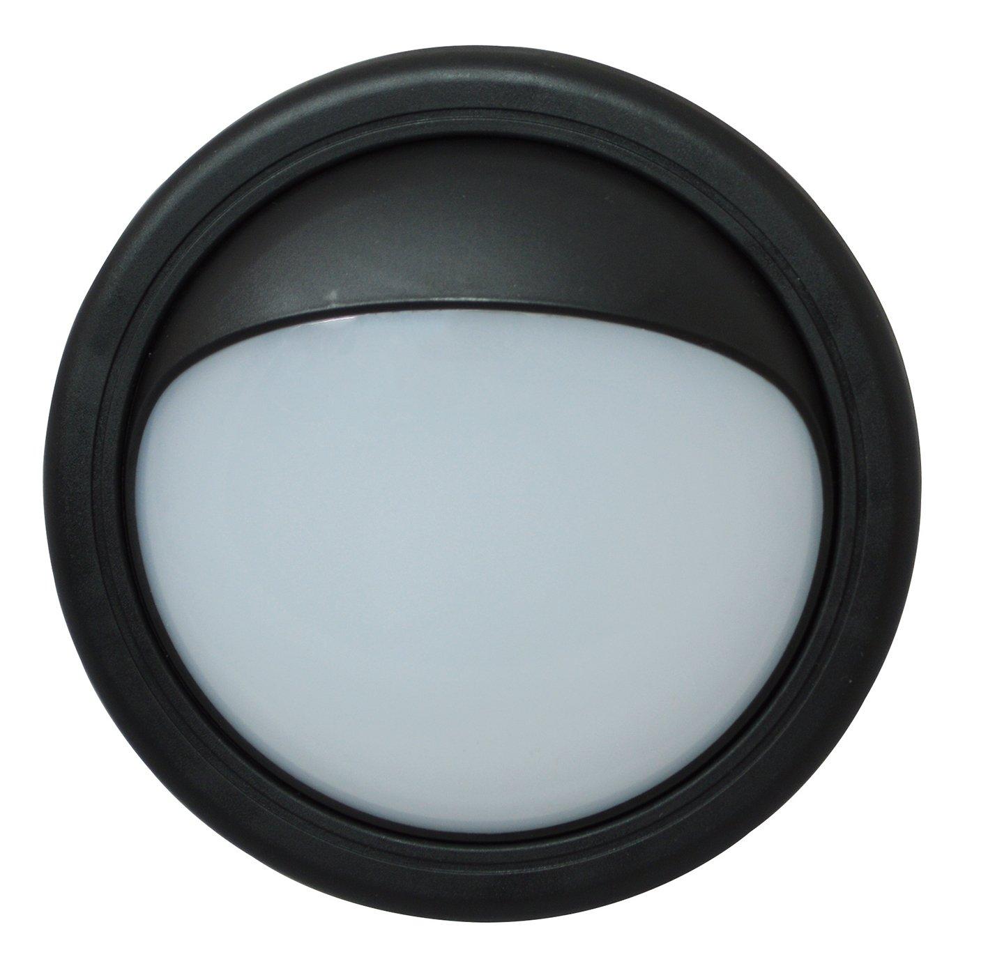 Tibelec 341820 lámpara ojo de buey, LED exterior con visera extraíble de plástico, 11 W, color negro.: Amazon.es: Iluminación