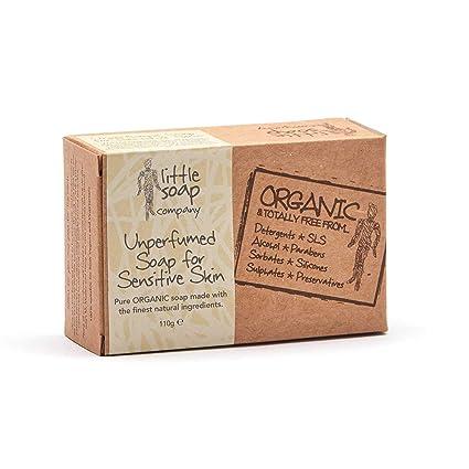 Organic Unperfumed Bar Jabón para la piel sensible (con) 110 G de harina de