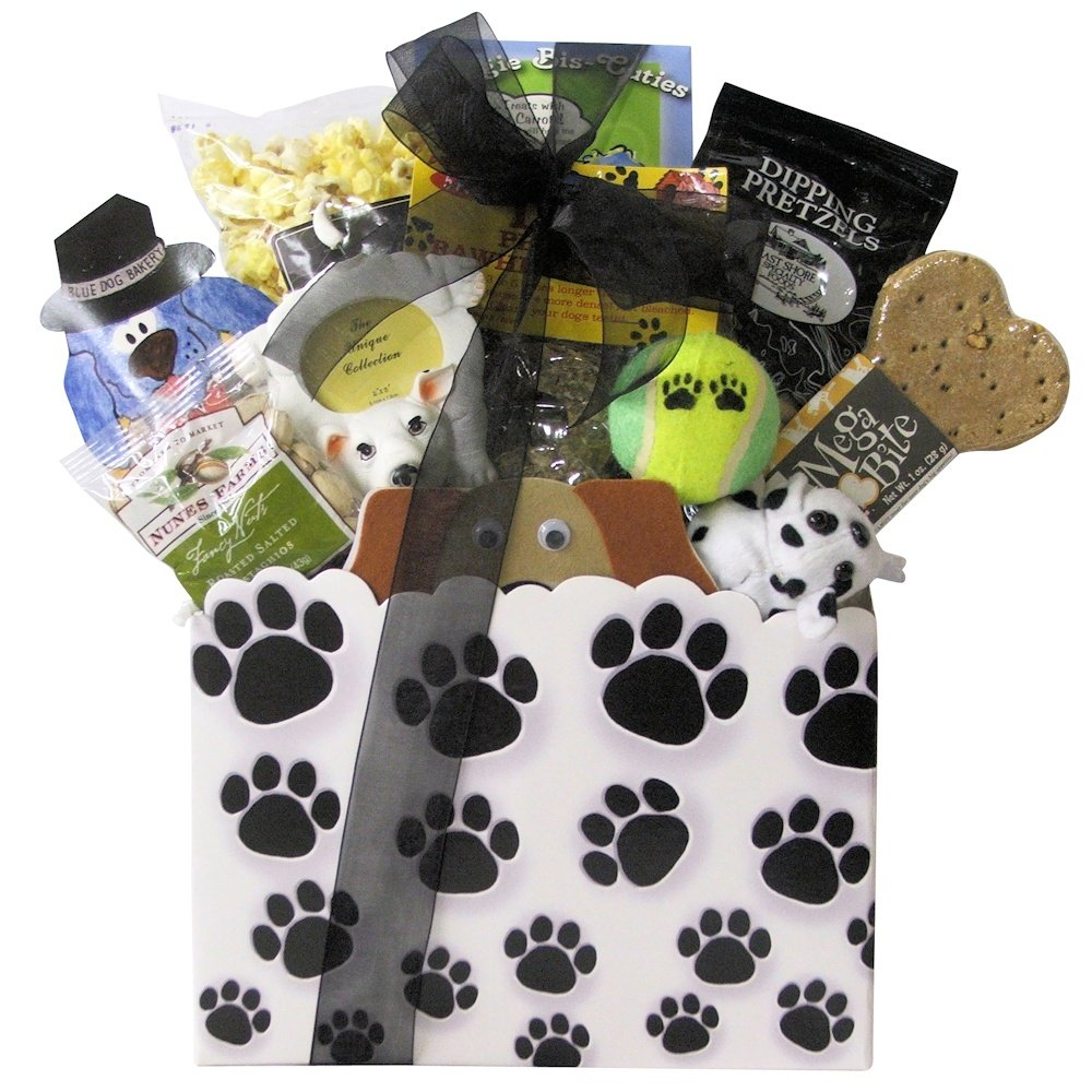 amazoncom great arrivals pet dog gift basket you and your pooch gourmet snacks and hors doeuvres gifts grocery gourmet food