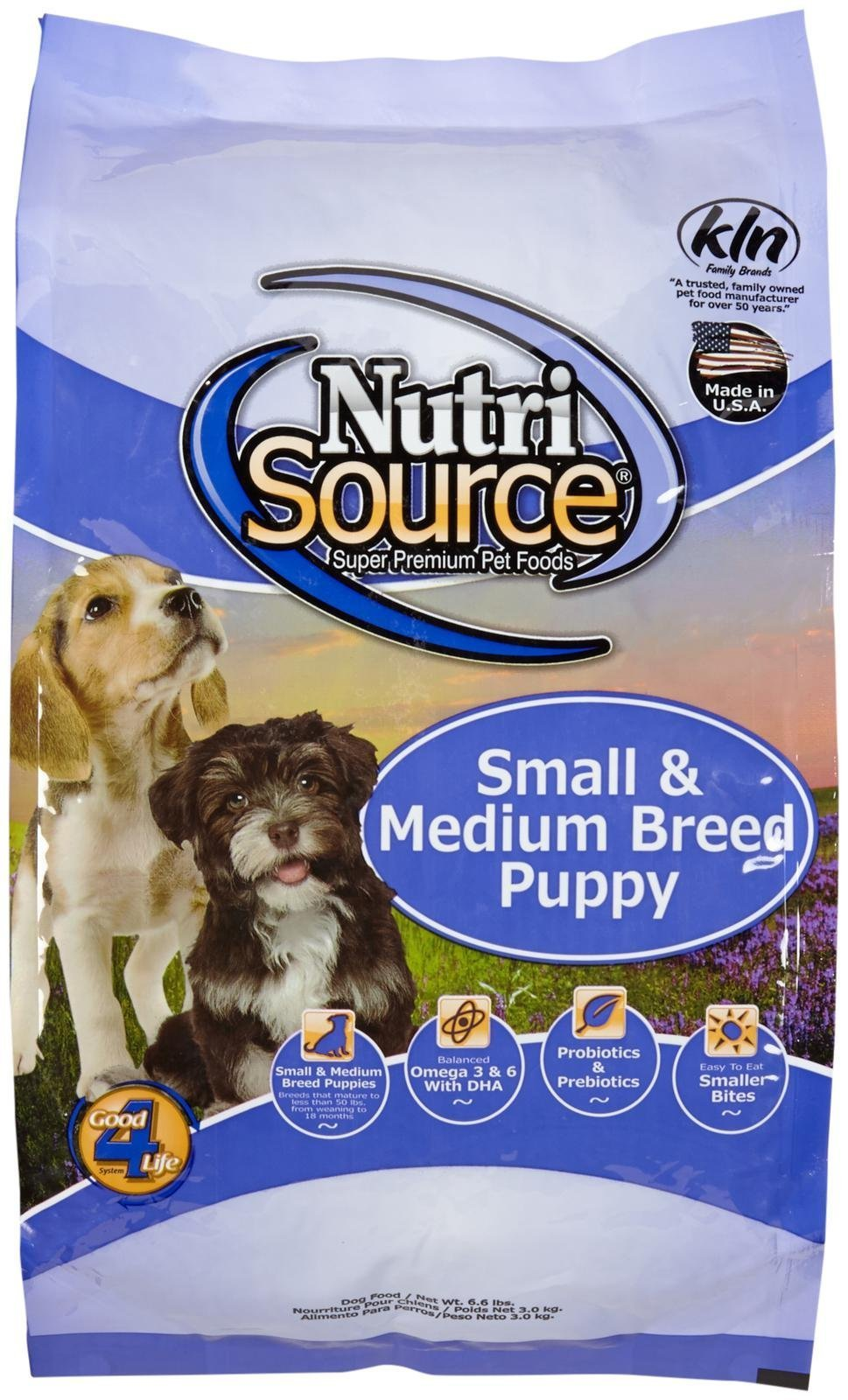 Tuffy's NutriSource 6.6-Pound Chicken and Rice Formula Breed Dry Puppy Food, Small/Medium