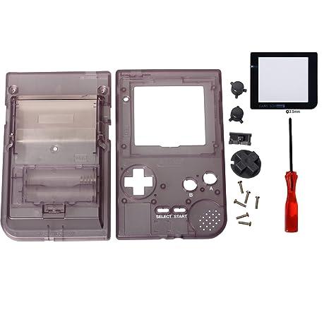eJiasu Funda de Reemplazo de Vivienda Funda de Carcasa para Nintendo Consola de Gameboy Pocket GBP (Cubierta púrpura de la cubierta + destornillador + ...